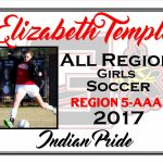 Elizabeth Temple All Region Girls Soccer