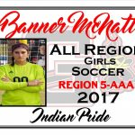 Banner McNatt All Region Girls Soccer