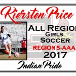 Kiersten Price All Region Girls Soccer