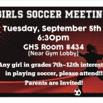 Girls Soccer Information Meeting
