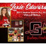 Lexie Edwards 2017 North South All Star Volleyball