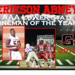 Erikson Abney NS Presentation and AAA Lower State Lineman of the Year
