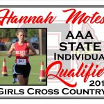 Hannah Motes AAA State Cross Country Qualifier