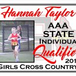 Hannah Taylor AAA State Cross Country Qualifier