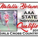 Natalia Bolanos AAA State Cross Country Qualifier