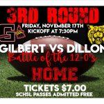 Gilbert HOSTS Dillon 3rd Round