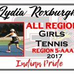 Lydia Roxburgh Girls Tennis All Region