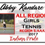 Abby Kandare Girls Tennis All Region
