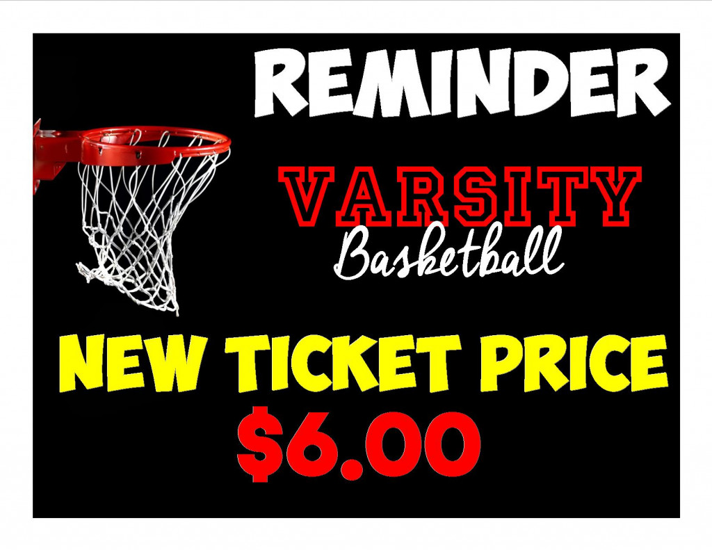 Varsity Basketball Gate Price CHANGE
