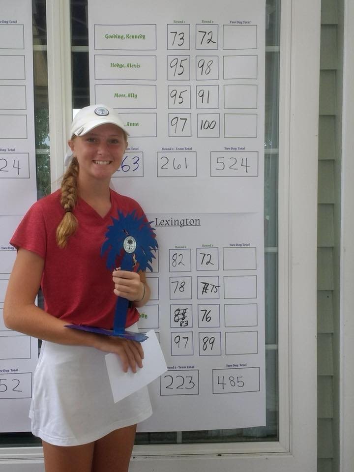 Kennedy Gooding, 2nd Individually at the HSI Tournament