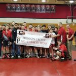 Congrats to Brennen Crout 100 Varsity Wins!