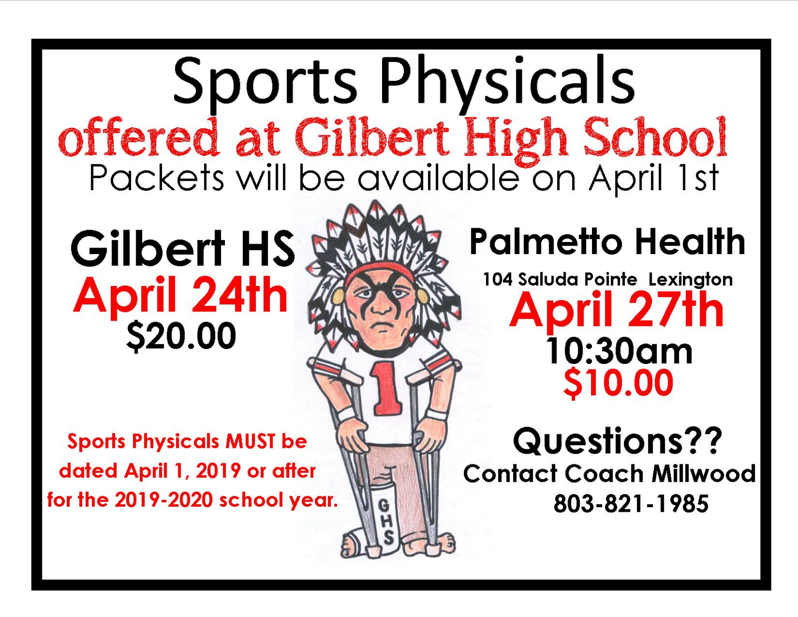 Student Physicals Offered at GHS