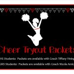 Cheer Tryout Packets Available