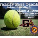 Boys Tennis Home Playoffs