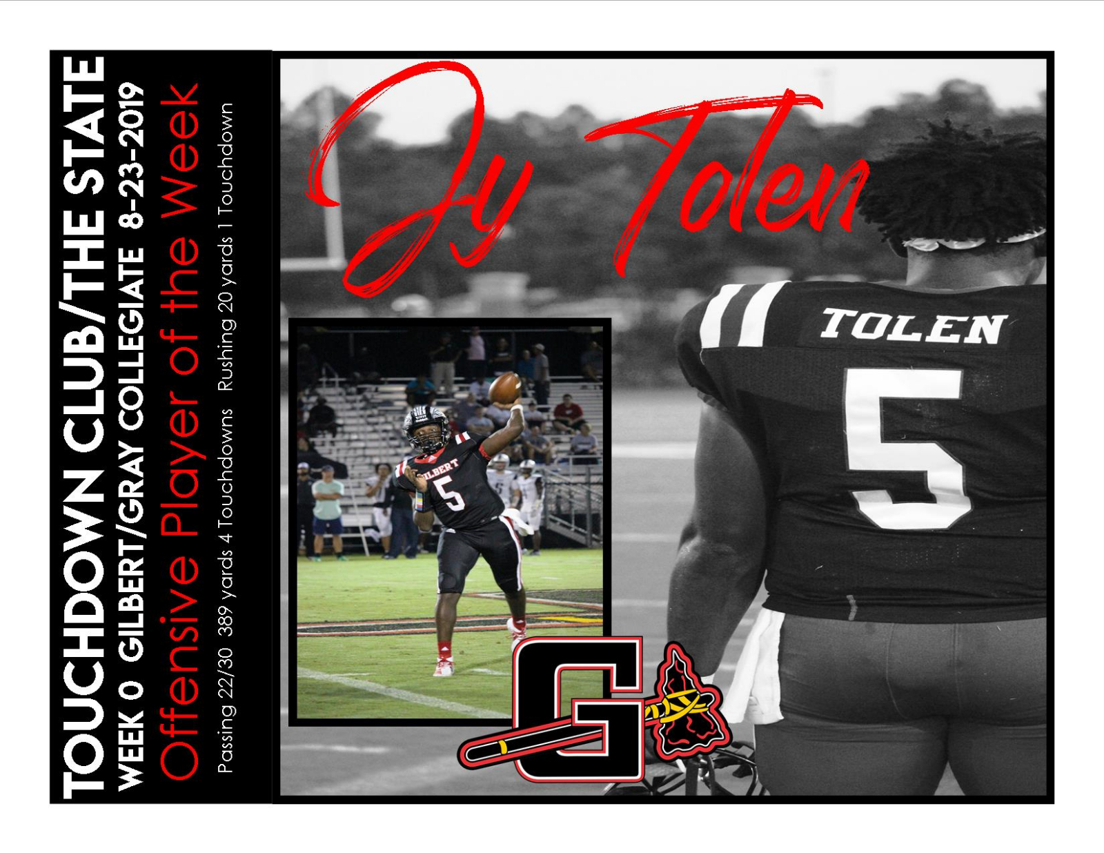 Jy Tolen Midlands Offensive Player of the Week/Week O