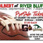 Gilbert/River Bluff PreSale Varsity Football Tickets