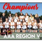 Girls Tennis AAA Region V Champions