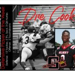 Congratulations to #3 Dre Cook Week 9 Defensive Player of the Week