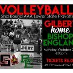 Volleyball 2nd Round Playoffs HOME Monday