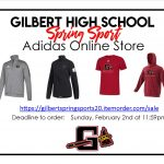 GHS Adidas Online Spring Sport Store is OPEN