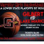 Varsity Girls Basketball HOSTS 1st Round Playoffs