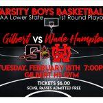 Varsity Boys Basketball HOSTS 1st Round Playoffs