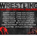 Congratulations to our AAA State Individual Qualifers!