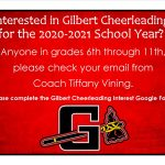 Interested in 2020-2021 Gilbert Cheer?
