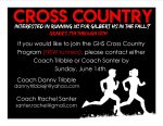 New Runners interested in Cross Country?