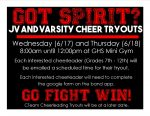 Cheer Tryout Information!