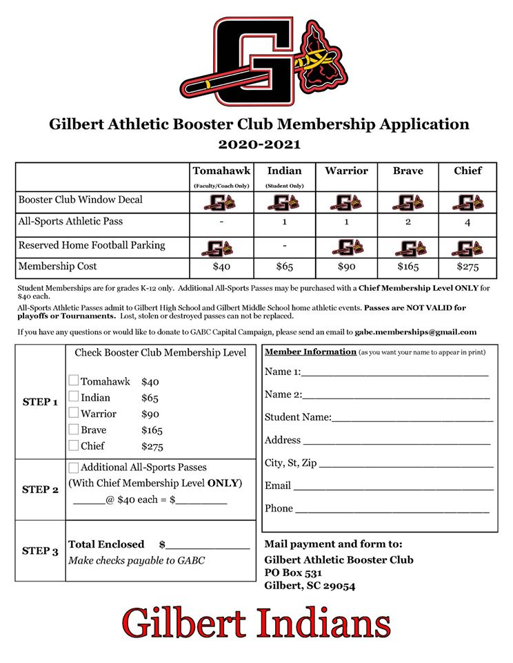 Join the Gilbert Athletic Booster Club!