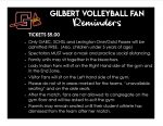Volleyball Fan Reminders