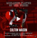 Colt Mason Player of the Week!