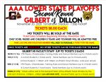 Varsity Football Ticket Sales Gilbert/Dillon 2nd Round Playoffs