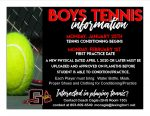 Boys Tennis Information