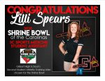 Lilli Spears SC Sports Student Medicine Asst for the Shrine Bowl
