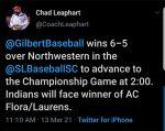 Boys Varsity Baseball beats Northwestern 6 – 5
