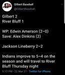 Boys Varsity Baseball beats River Bluff 2 – 1