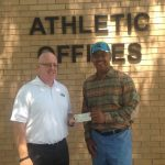 JOSH NORMAN MAKES DONATION TO GHS FOOTBALL