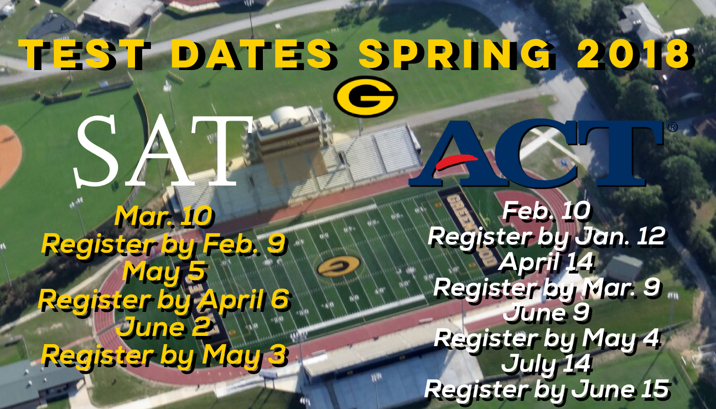 ACT/SAT Dates for Spring