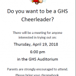 2018-2019 Cheer Tryouts