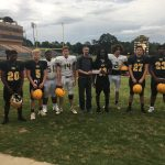 Football Present Donation to Greenwood Cancer Fund