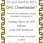 2019-2020 CHEER INTEREST MEETING
