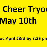 GHS Cheer Tryouts- May 10th