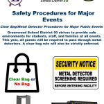 Reminder:  Clear Bag Policy & Metal Detectors for All Major Events