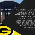 Booster Club and GHS Present Letterman Jackets to Athletes
