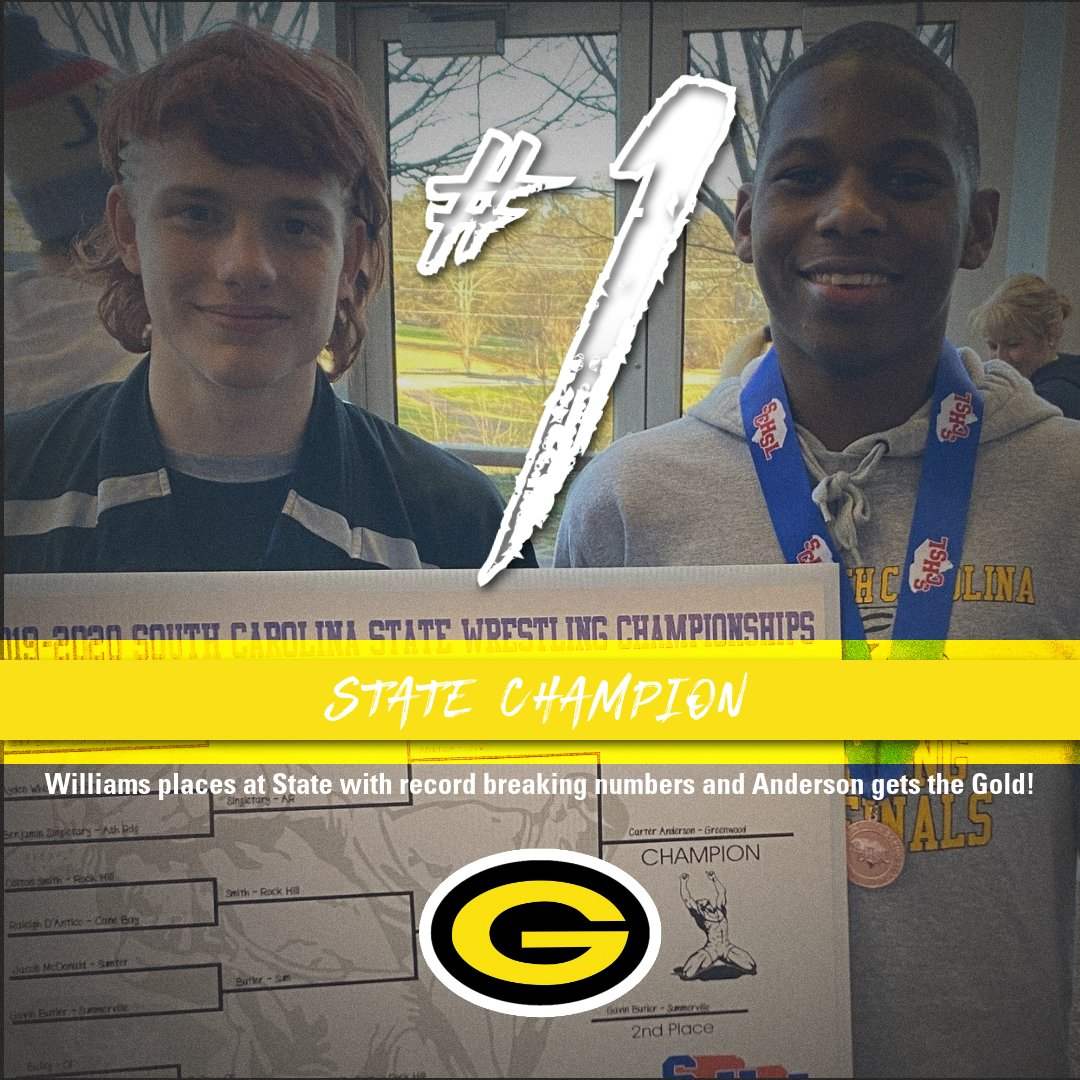 Wrestlers; Anderson and Williams break GHS records and bring back the GOLD