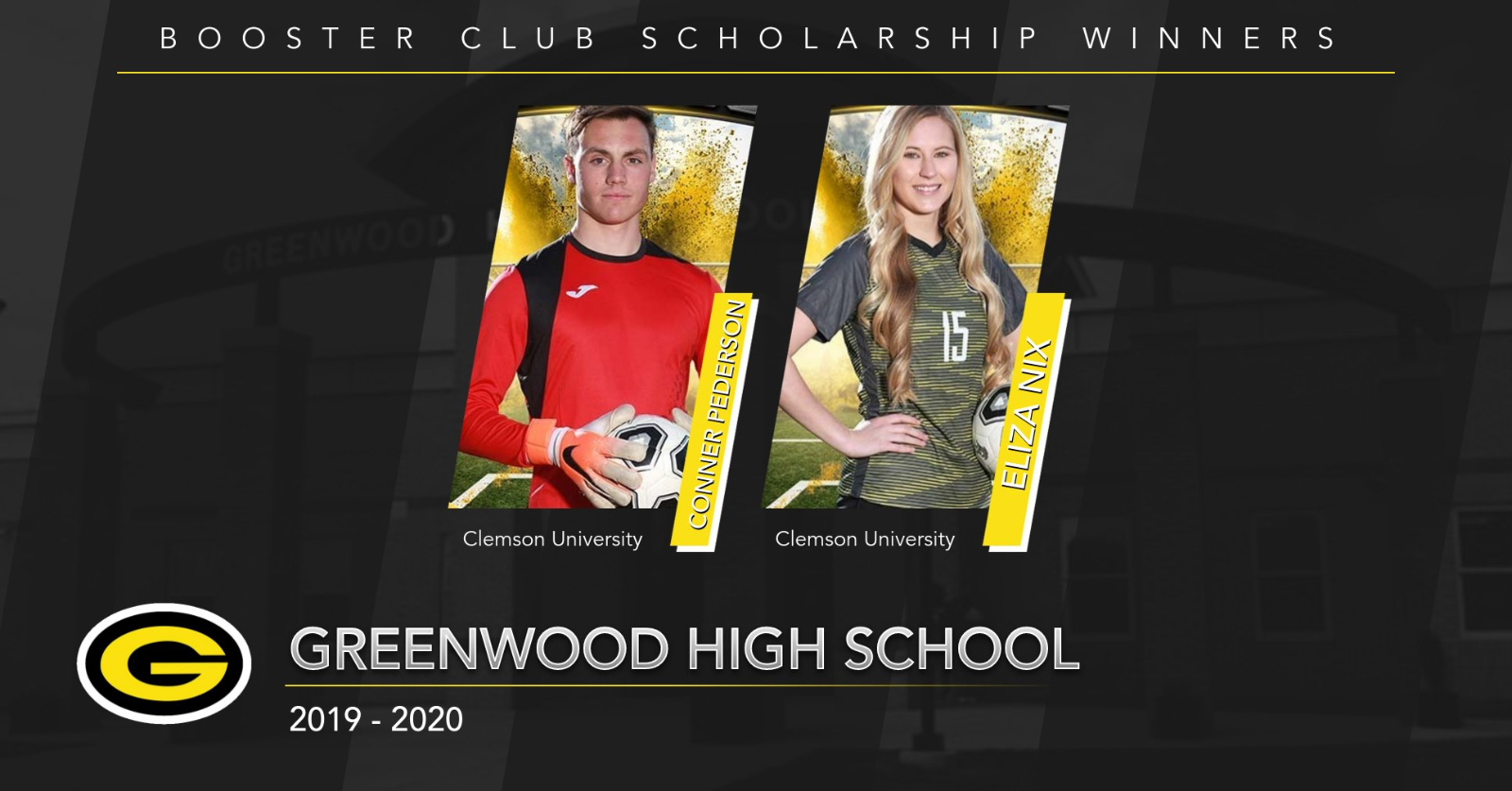 Congratulations to the GHS Booster Club Scholarship Winners