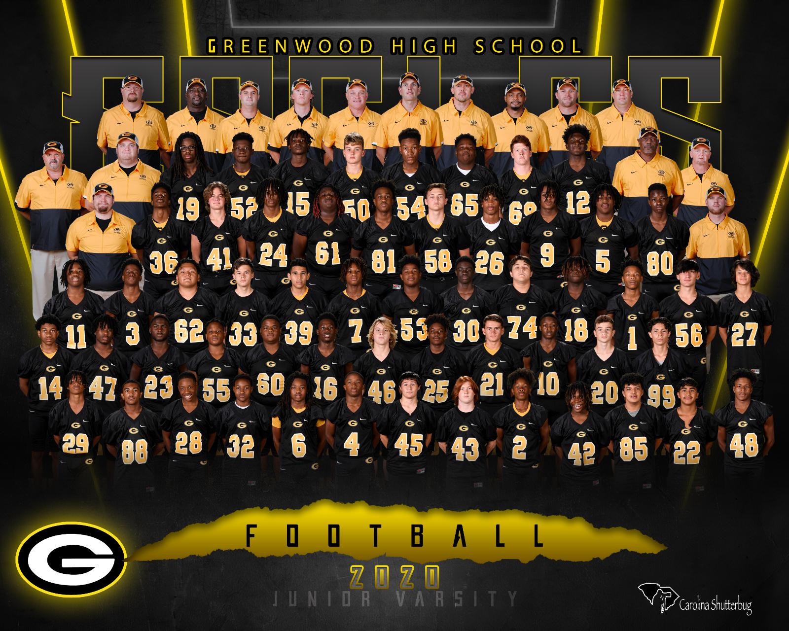 20-21 JV Football Team Photo