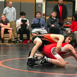 Lions Varsity Wrestling goes 1-1 at home tri meet beating Hawken but falling short against Brecksville